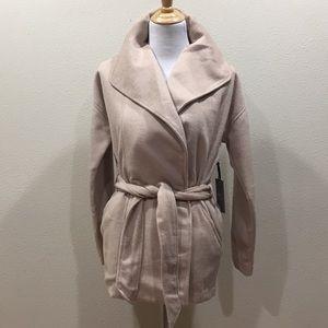 Forever 21 Tan Wool Blend Belted Jacket